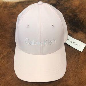 NWT Calvin Klein dusty pink hat